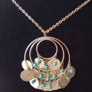 Claire's Long Fancy Medallion Statement Necklace.